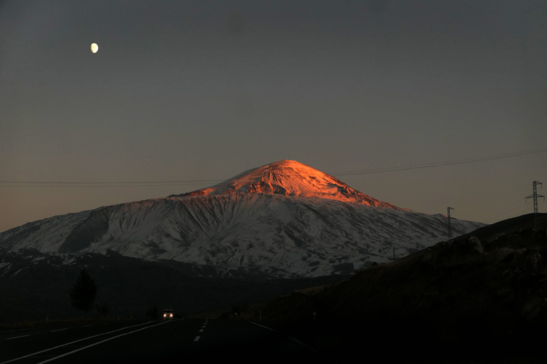 Mount Ararat on the border of Turkey and Armenia