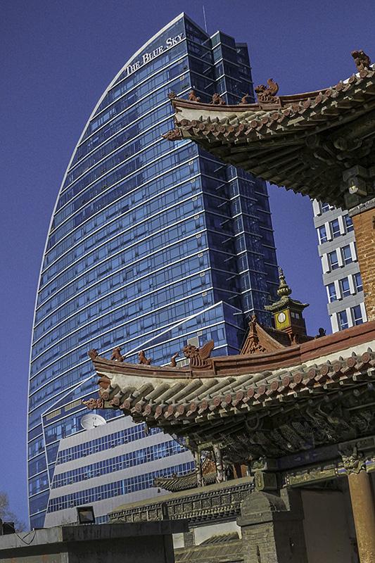 The Blue Sky Hotel, Ulaanbaatar seen from the Choijin Lama Museum