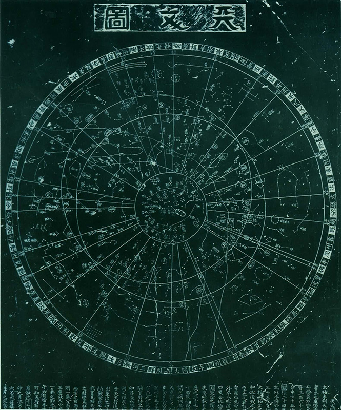Reproduction of the Suzhou star chart (13th century)