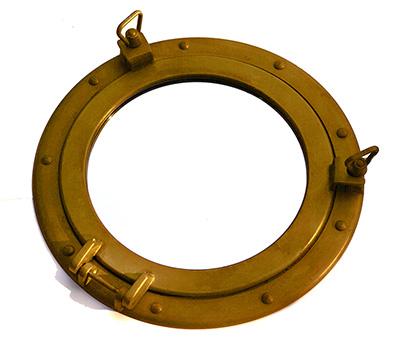 Garage sale: copper porthole