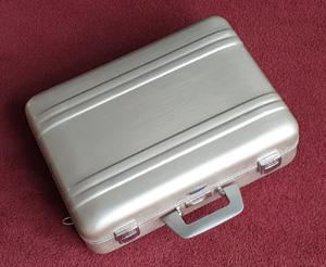 Haliburton suitcase with Hasselblad equipment