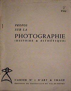 Propos sur la Photographie